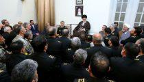 دیدار نوروزی رهبر معظم انقلاب با فرماندهان ارشد نیروهای مسلح